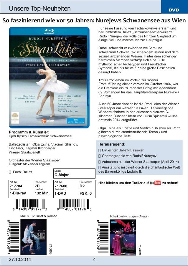 Blu-ray, DVD- und CD-Neuheiten Oktober Nr. 4 (Im Vertrieb der NAXOS Deutschland GmbH) Slide 2