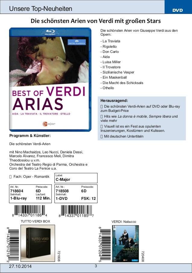 Blu-ray, DVD- und CD-Neuheiten Oktober Nr. 4 (Im Vertrieb der NAXOS Deutschland GmbH) Slide 3
