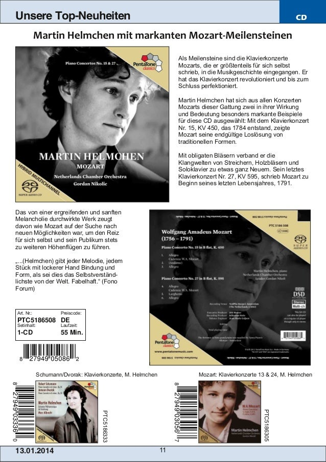 Unsere Top-Neuheiten  CD  Als Meilensteine sind die Klavierkonzerte Mozarts, die er größtenteils für sich selbst schrieb, ...