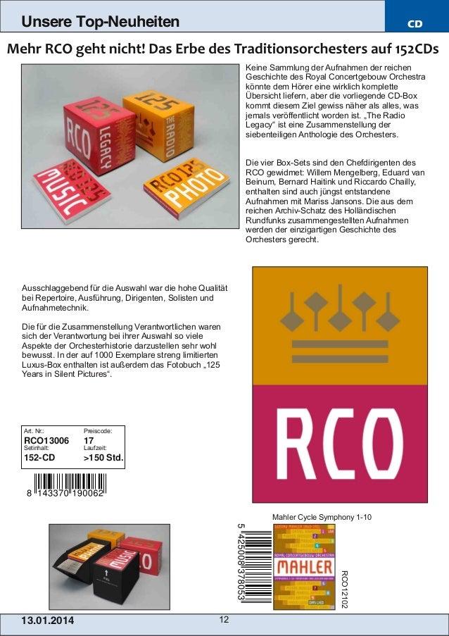 Unsere Top-Neuheiten  CD  Keine Sammlung der Aufnahmen der reichen Geschichte des Royal Concertgebouw Orchestra könnte dem...