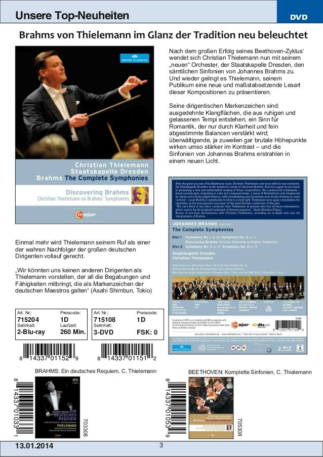 Unsere Top-Neuheiten  DVD  Nach dem großen Erfolg seines BeethovenZyklus' wendet sich Christian Thielemann nun mit seinem...