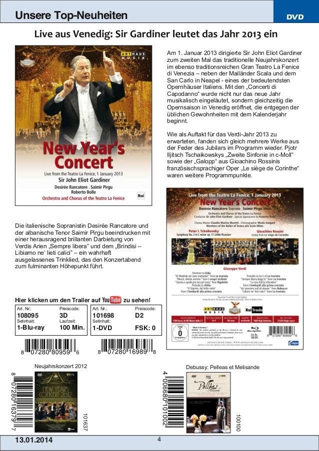 Unsere Top-Neuheiten  DVD  Am 1. Januar 2013 dirigierte Sir John Eliot Gardiner zum zweiten Mal das traditionelle Neujahrs...