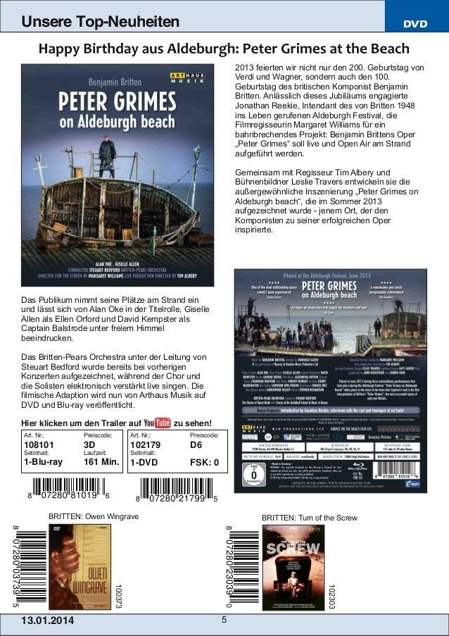 Unsere Top-Neuheiten  DVD  2013 feierten wir nicht nur den 200. Geburtstag von Verdi und Wagner, sondern auch den 100. Geb...