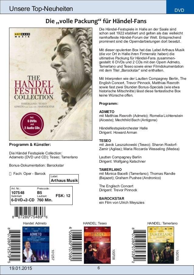Die HändelFestspiele in Halle an der Saale sind schon seit 1922 etabliert und gelten als das vielleicht namhafteste Hände...