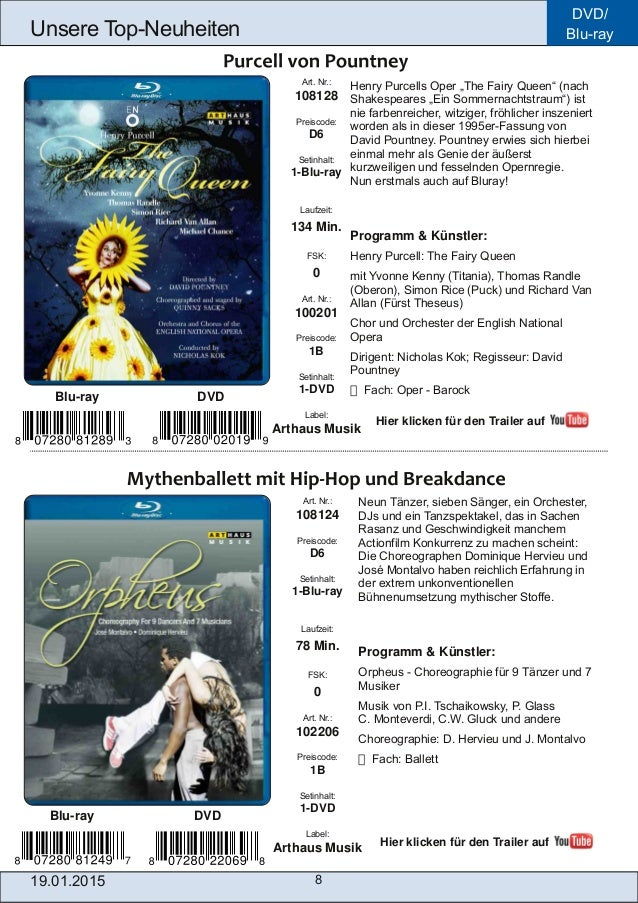 """DVD/ Bluray 8 Unsere TopNeuheiten Henry Purcells Oper """"The Fairy Queen"""" (nach Shakespeares """"Ein Sommernachtstraum"""") ist ..."""