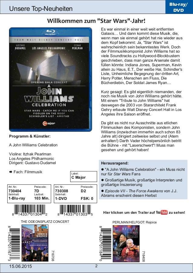 15.06.2015 2 Unsere TopNeuheiten Blu-ray/ DVD Es war einmal in einer weit weit entfernten Galaxis… Und dann kommt diese M...