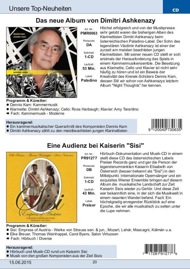 CD 15.06.2015 20 Unsere TopNeuheiten Art. Nr.: PR91277 Preiscode: DB Setinhalt: 1-CD Laufzeit: 43 Min. Label: Preiser Ein...