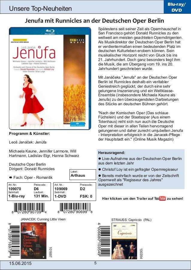 15.06.2015 5 Unsere TopNeuheiten Blu-ray/ DVD Spätestens seit seiner Zeit als Opernhauschef in San Francisco gehört Donal...