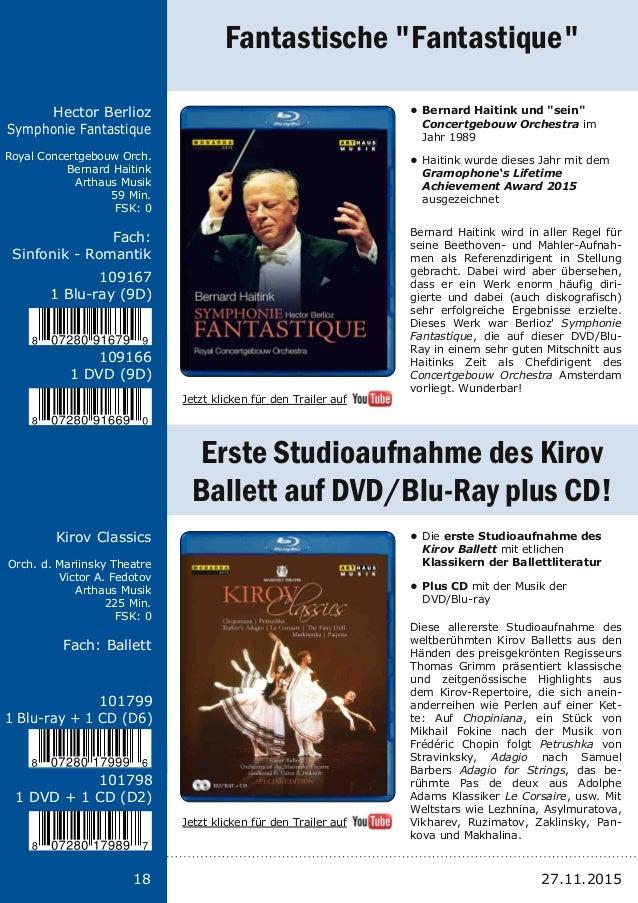 Titel: Schriftgröße 13 Interpreten Label Laufzeit FSK Fach: Schriftgröße 13 18 Hector Berlioz Symphonie Fantastique Royal ...