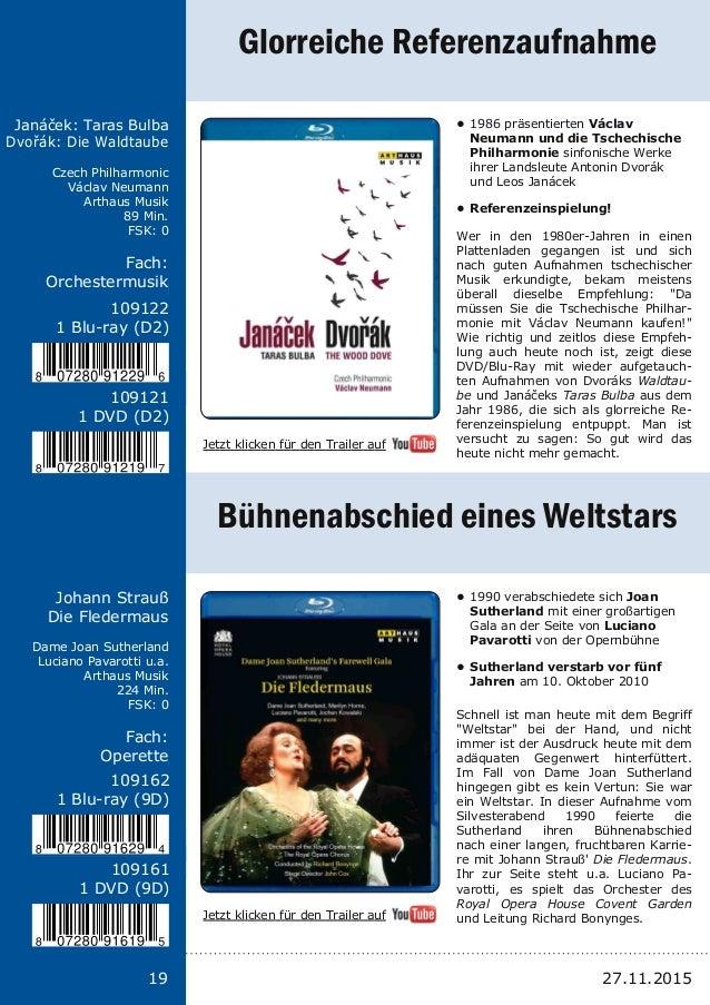 Titel: Schriftgröße 13 Interpreten Label Laufzeit FSK Fach: Schriftgröße 13 19 Janáček: Taras Bulba Dvořák: Die Waldtaube ...