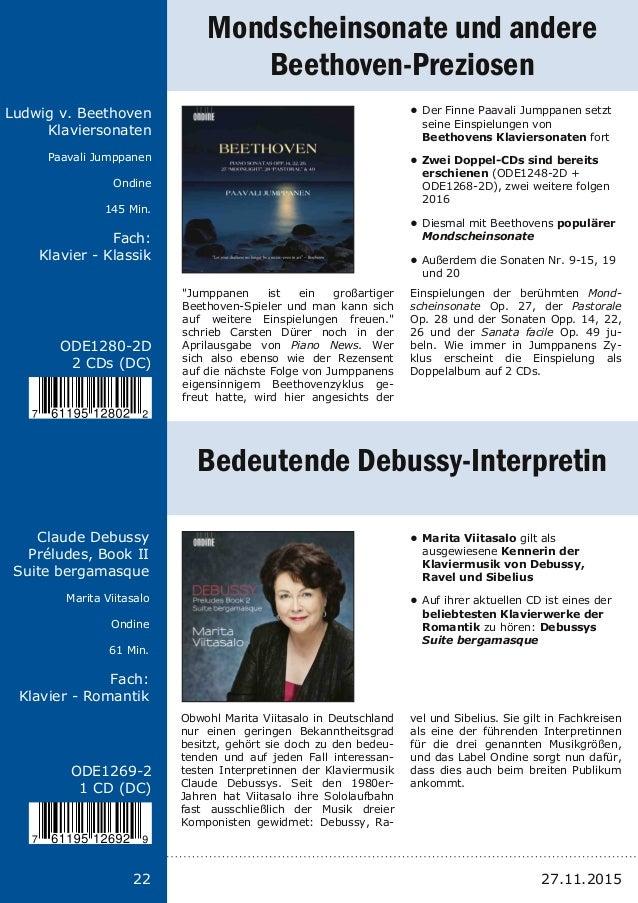 Titel: Schriftgröße 13 Interpreten Label Laufzeit Fach: Schriftgröße 13 22 ODE12802D 2 CDs (DC) Ludwig v. Beethoven Klavi...