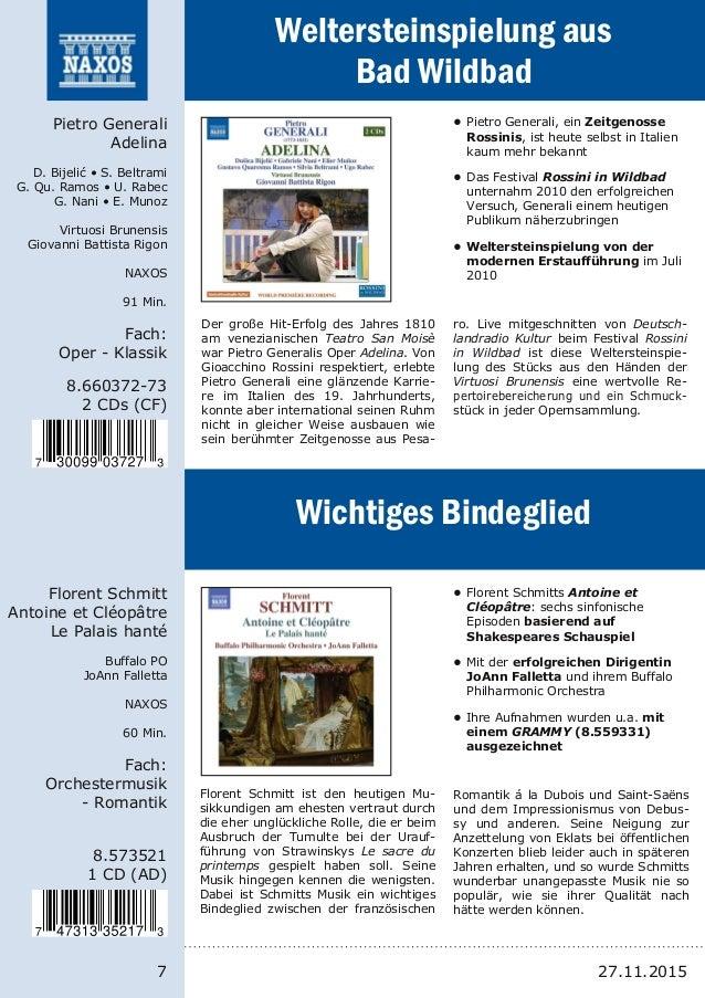 7 8.66037273 2 CDs (CF) Pietro Generali Adelina D. Bijelić • S. Beltrami G. Qu. Ramos • U. Rabec G. Nani • E. Munoz Virtu...