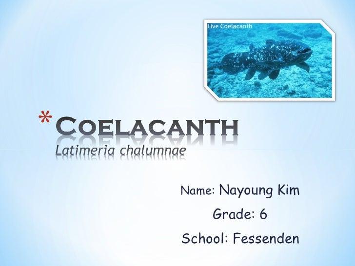 Name:  Nayoung Kim Grade: 6 School: Fessenden