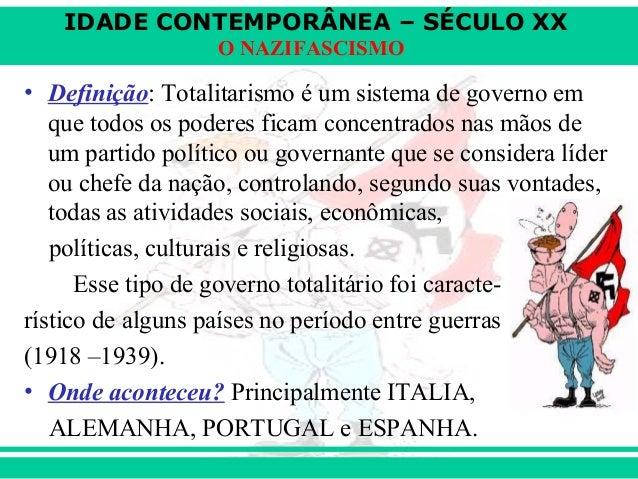 Governos Totalitários (nazismo e fascismo) Slide 2