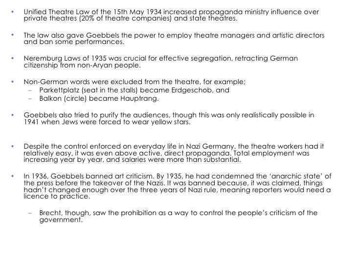 Nazi Germany Theatre