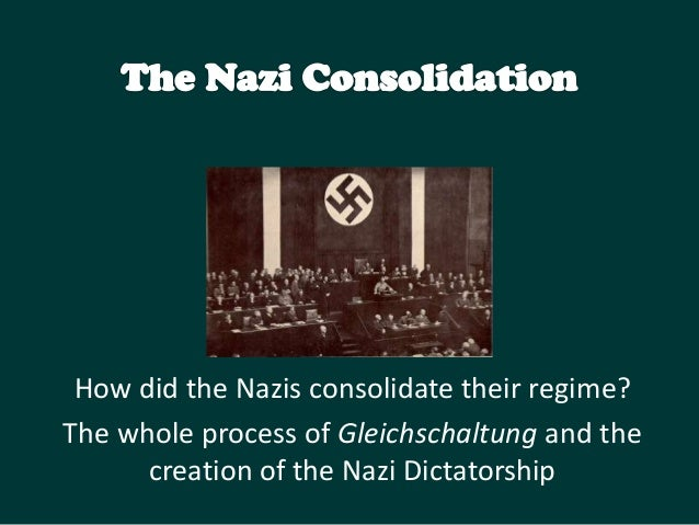 How did the Nazis consolidate their regime? The whole process of Gleichschaltung and the creation of the Nazi Dictatorship