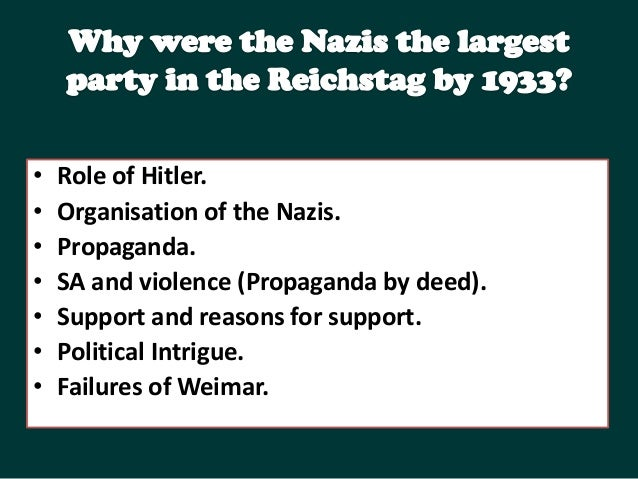"""hitlers consolidation Hitler's minister of propaganda  riefenstahl's """"triumph of the will,"""" ordered by hitler himself to celebrate the consolidation of his cult at the 1934."""