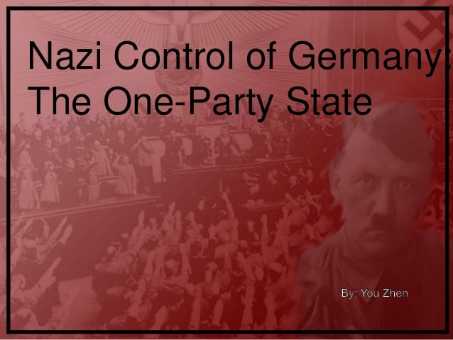 Nazi Control of Germany: The One-Party State