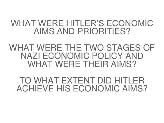 Nazi economic policy Slide 2