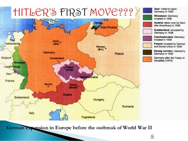 Hitlers Foreign Policy Nazi Expansion Road To WWII - Germany map pre ww2