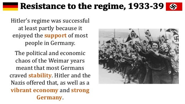 to what extent did nazi germany - the extent to which the nazis achieved an economic miracle in germany between 1933-1939 prior to hitler being appointed fã¼hrer of germany in 1933, the economic climate had been one of instability given the effects of the 1930 economic depression.