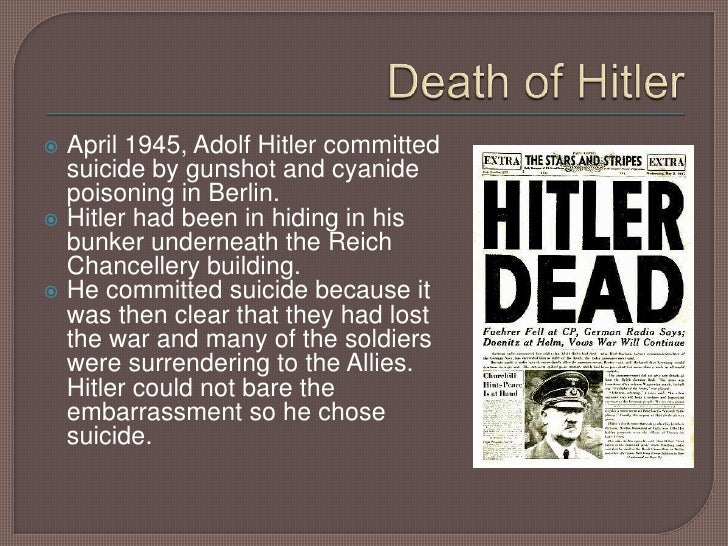 Image result for hitler committed suicide