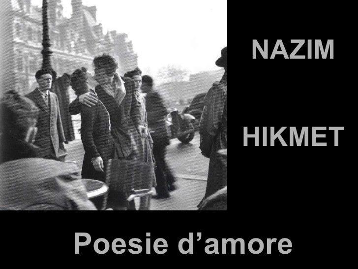 NAZIM HIKMET Poesie d'amore