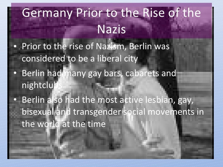 Homosexual persecution in the holocaust