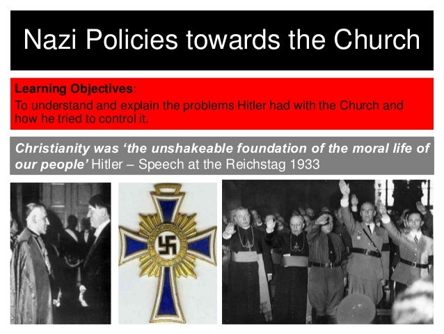 'the nazis tried to control every To control every part of every german's life, the nazi party had to persuade people to believe that hitler had the answers to all their problems the nazi party used terror, on the one hand, and propaganda on the other.