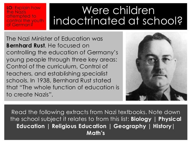 nazi education policy