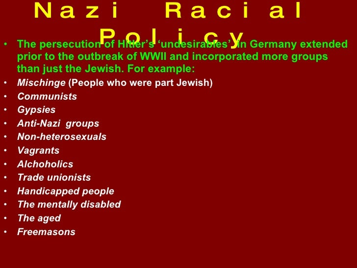The Nazi Racial State