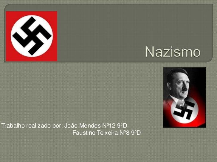 Trabalho realizado por: João Mendes Nº12 9ºD                          Faustino Teixeira Nº8 9ºD
