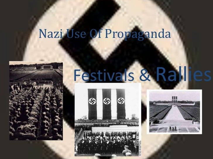 Nazi Use Of Propaganda<br />Festivals & Rallies<br />
