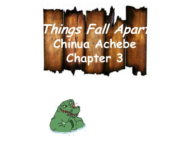 the repercussions of actions in things fall apart by chinua achebe When chinua achebe showed the horrors of colonial rule in 'things fall apart,' the narrative easily became the african story that impinged itself on our consciousness.