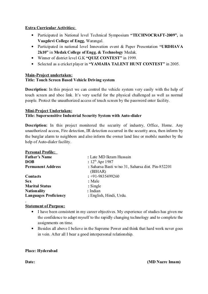 Extracurricular Activities Resume Carpinteria Rural Friedrich  Extracurricular Activities On Resume