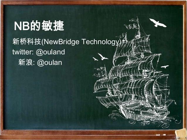 NB的敏捷新桥科技(NewBridge Technology)twitter: @ouland  新浪: @oulan