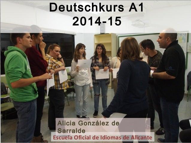 Escuela Oficial de Idiomas de Alicante Alicia González de Sarralde