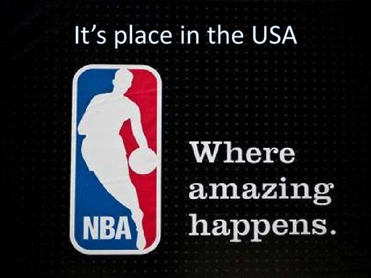 Presentation of the NBA