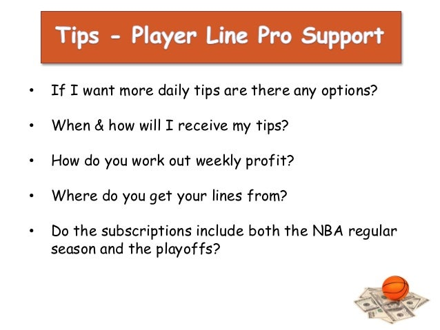 NBA Daily Betting Tips - Player Line Pro