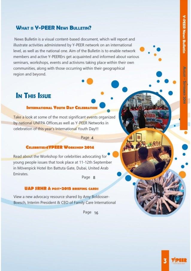 Y-PEER News Bulletin August-September  Slide 3
