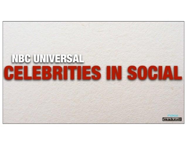 NBC UNIVERSALCELEBRITIES IN SOCIAL