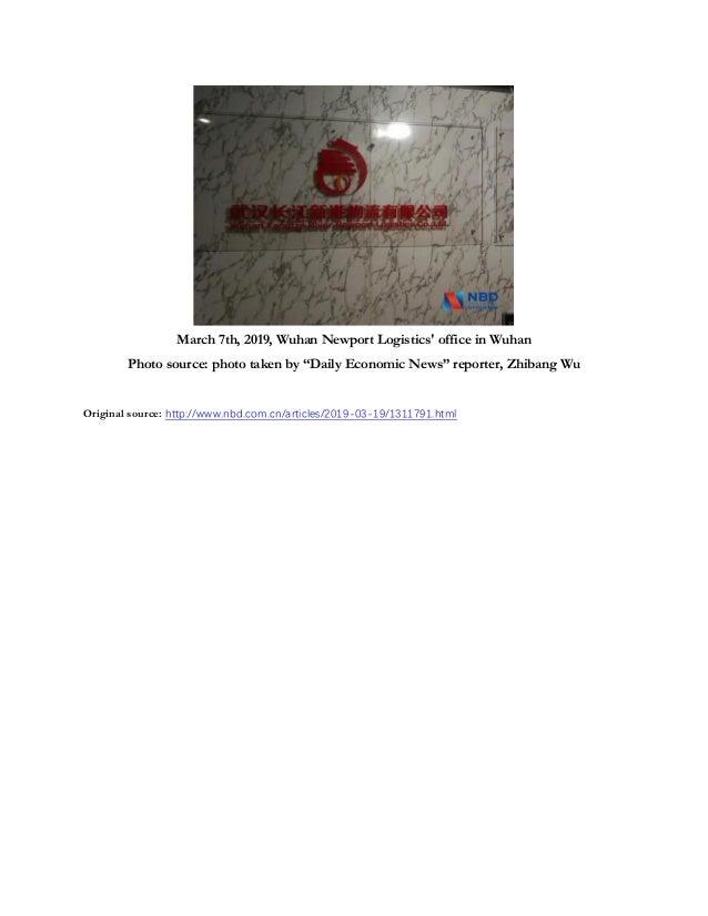 NBD Article on Yangtze River Port & Logistics