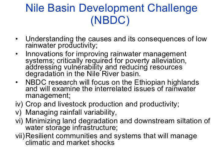 A landscape approach to rainwater management in Ethiopia:  Nile 5 – coordination and platforms Slide 2