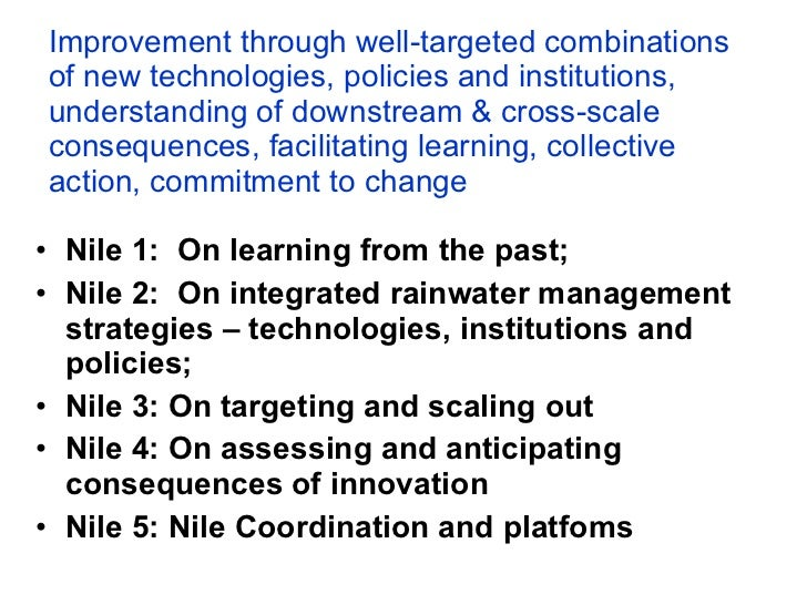 A landscape approach to rainwater management in Ethiopia:  Nile 5 – coordination and platforms Slide 3
