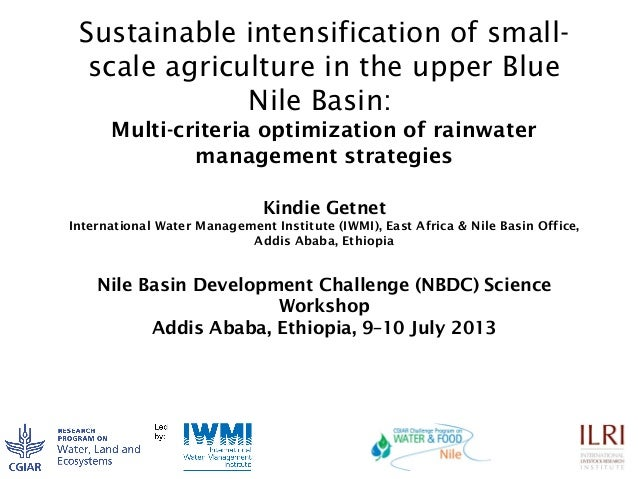 Sustainable intensification of small- scale agriculture in the upper Blue Nile Basin: Multi-criteria optimization of rainw...