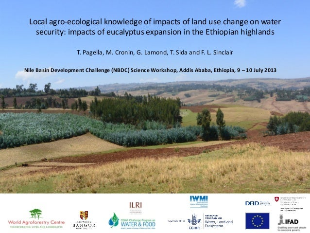 Local agro-ecological knowledge of impacts of land use change on water security: impacts of eucalyptus expansion in the Et...