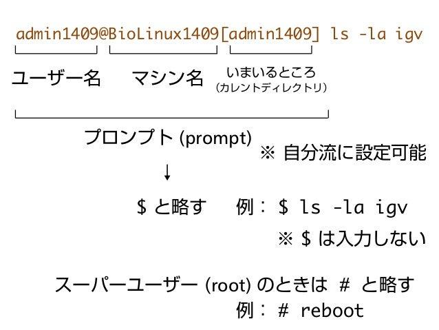 linux ディレクトリ 命令