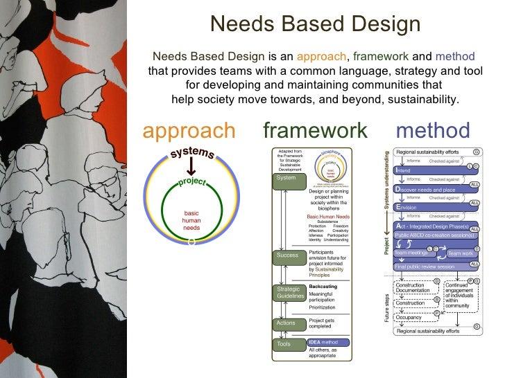 Needs Based Design approach framework method Needs Based Design  is an  approach ,  framework  and  method  that provides ...