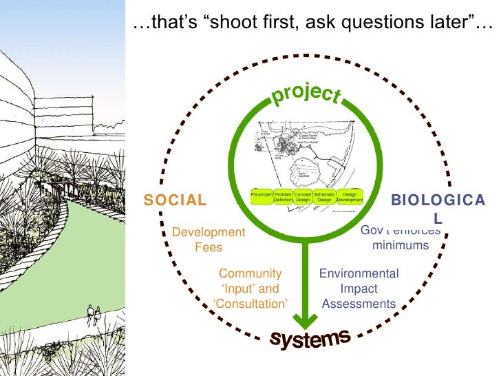 """… that's """"shoot first, ask questions later""""… Community 'Input' and 'Consultation' Development Fees SOCIAL Environmental Im..."""