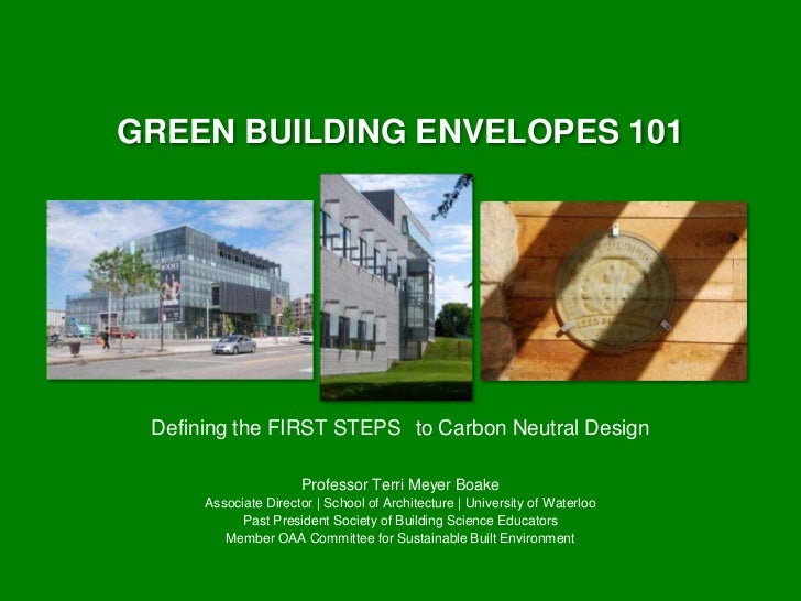 green building envelopes 101 from nbec - Thermal Envelope House Plans